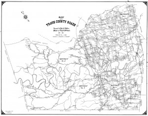 Map of Travis County, 1898 Travis County Transportation and Natural Resources