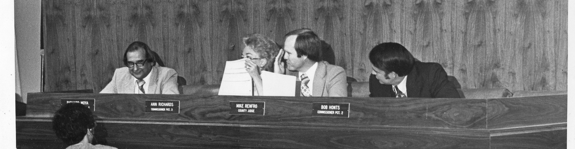 The Travis County Commissioners Court in the 1980s