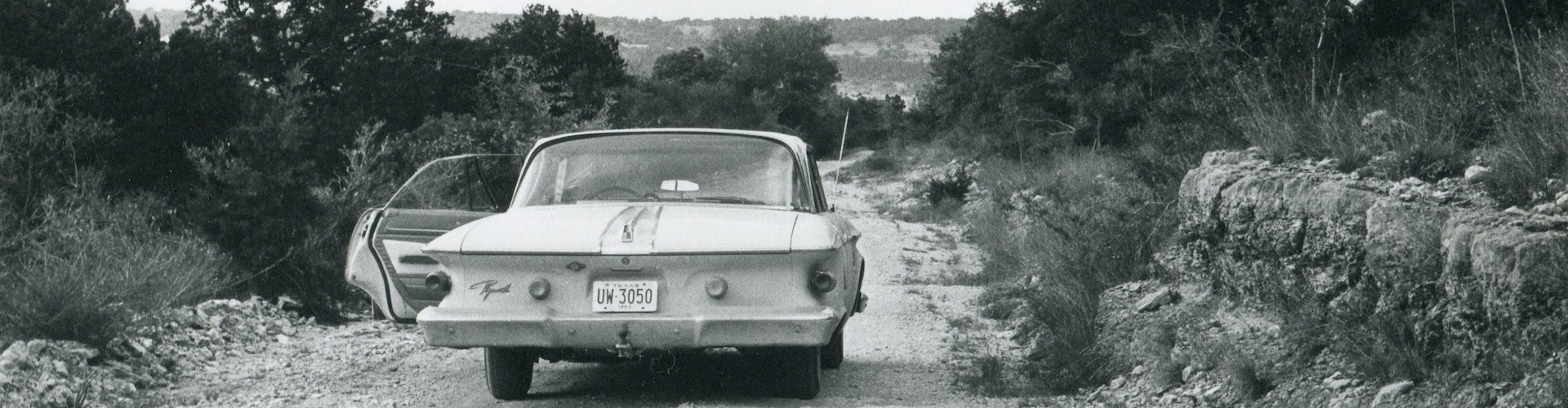 A rural Travis County road in the 1960s