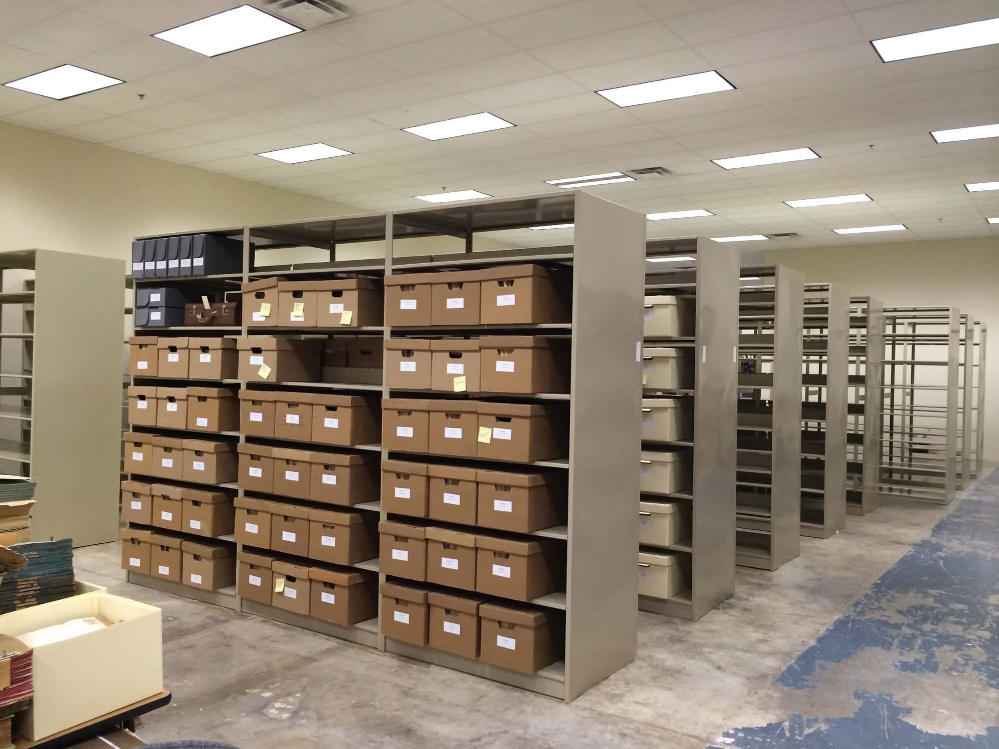 archives shelves