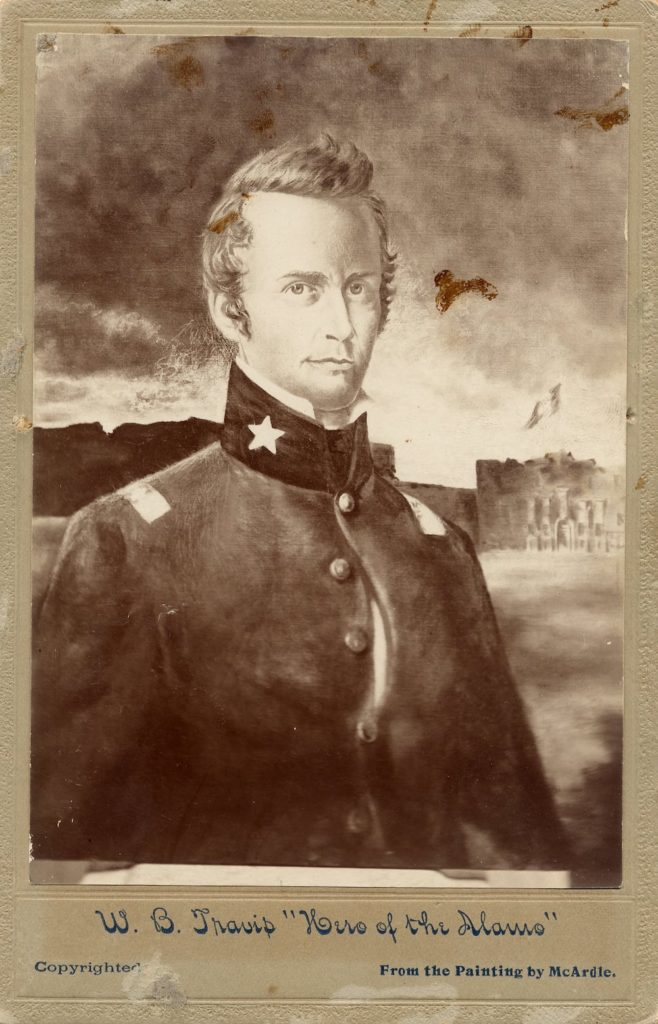 Portrait of William B. Travis by Henry McArdle