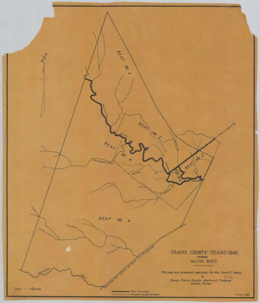 Travis County Militia beats, 1840
