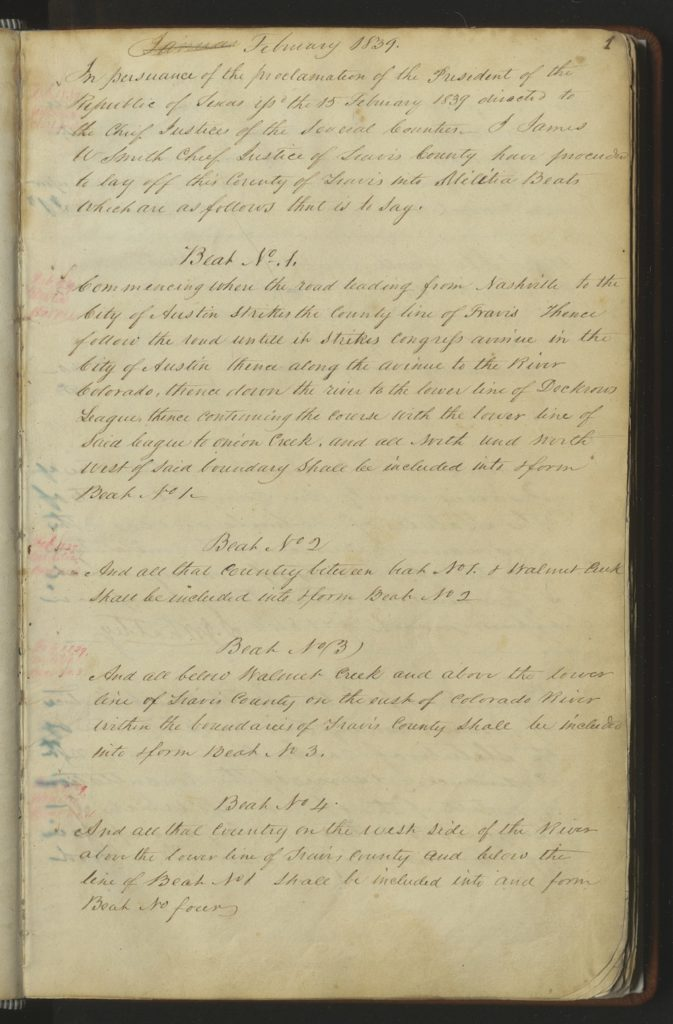 commissioner court minutes 1839
