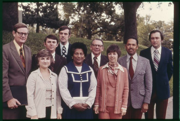 Travis County Extension staff, 1974. Courtesy of Ted Fisher
