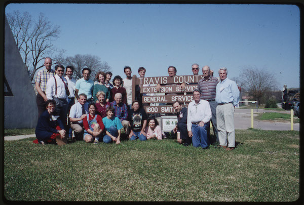First Travis County Master Gardener class, 1992.  Courtesy of Ted Fisher