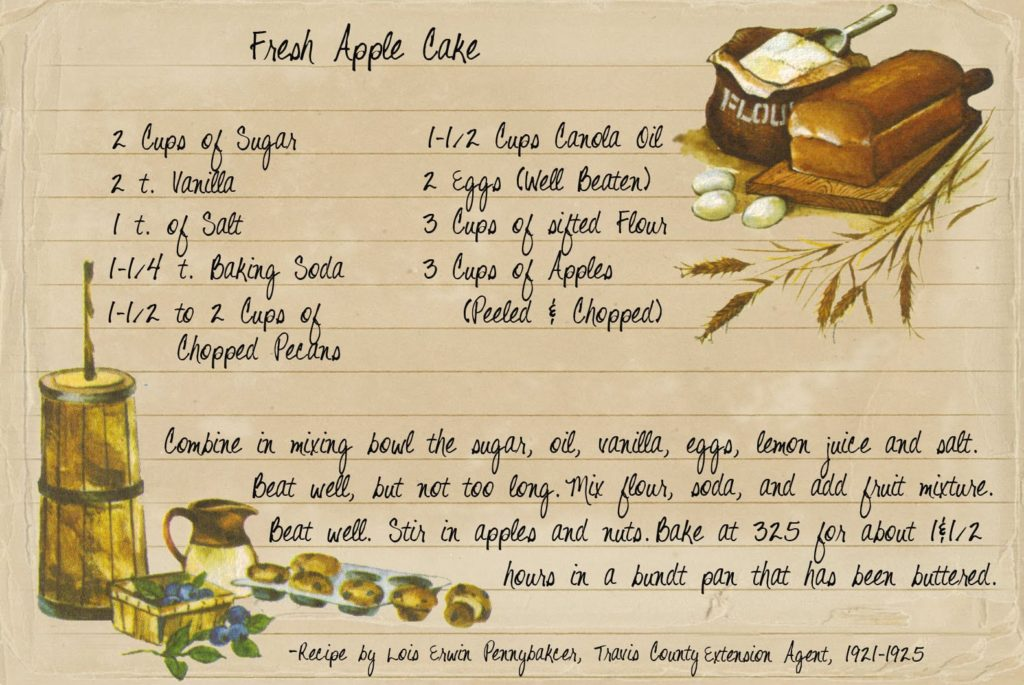 Extension Service Recipe - Fresh Apple Cake