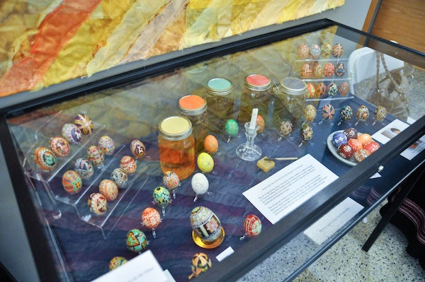 czech and ukrainian painted eggs at history day 2015