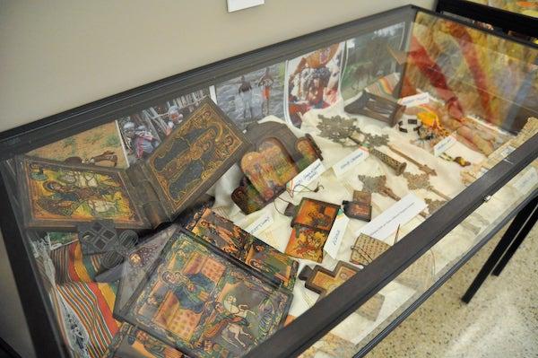 folk art display case