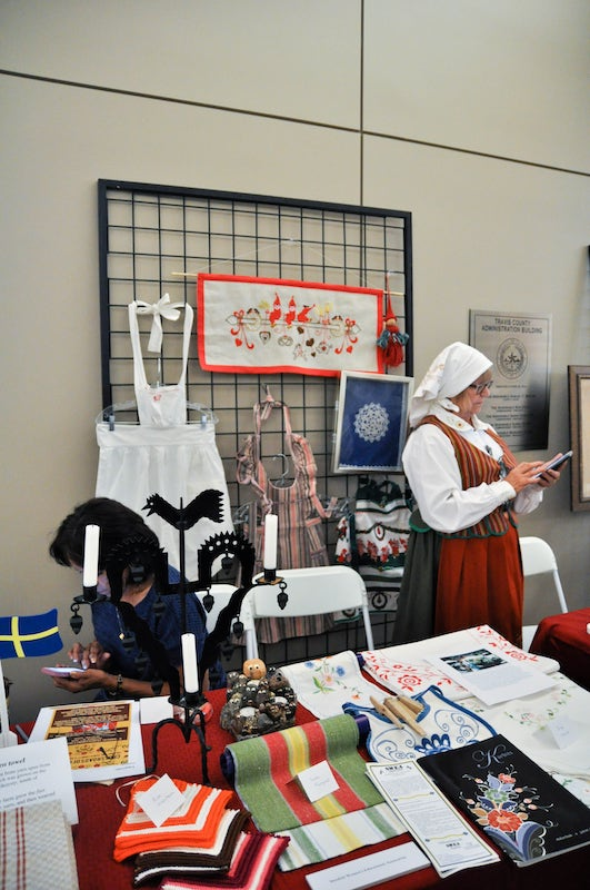 Swedish Women's Educational Association table at history day 2015