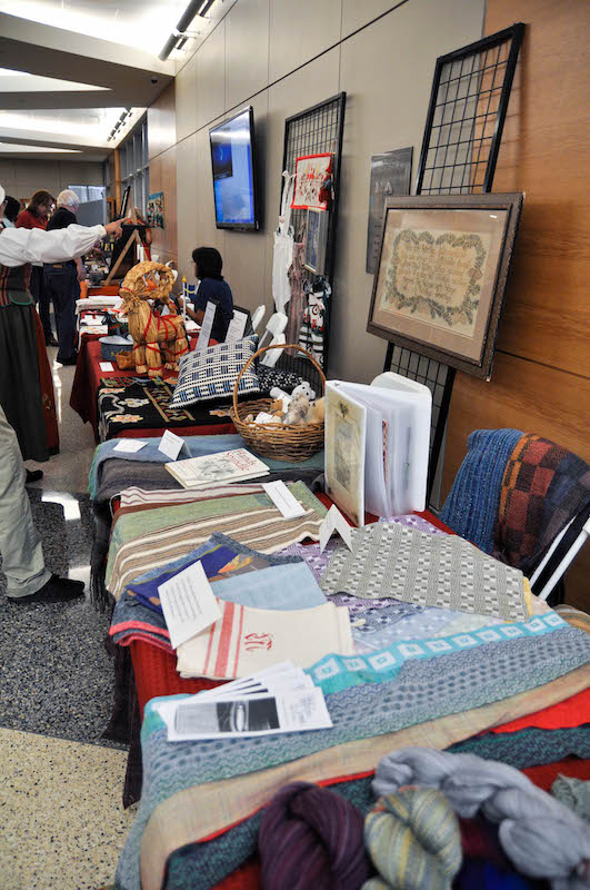 fabrics table at history day 2015