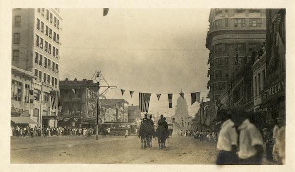 Victory Parade, 1918 Photo No. PICA 07169, Austin History Center, Austin Public Library