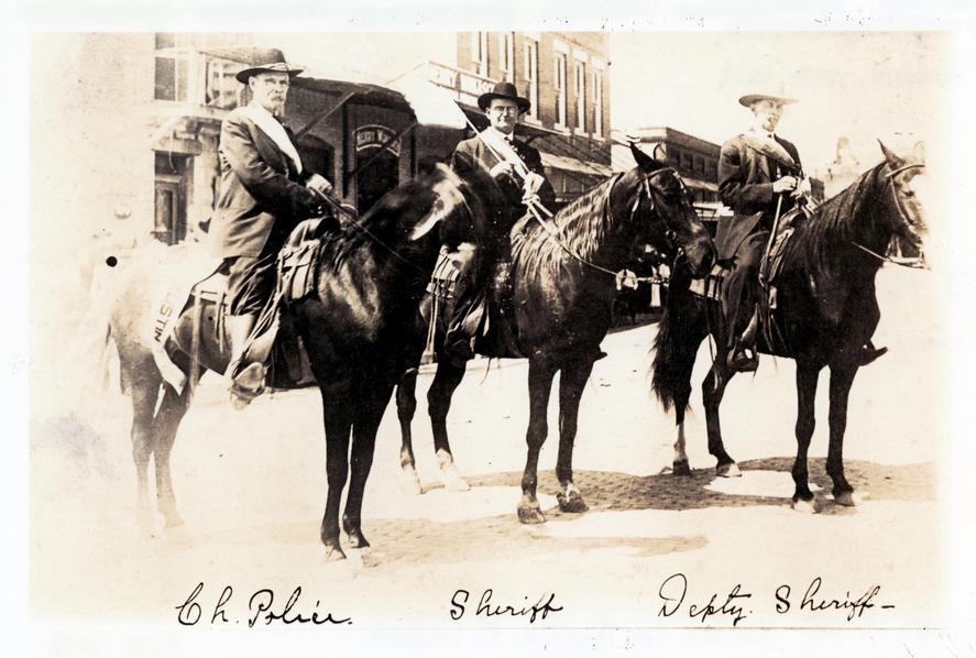 Sheriff George S. Matthews on horseback, 1917