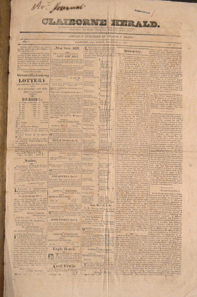 The Claiborne Herald, 1829