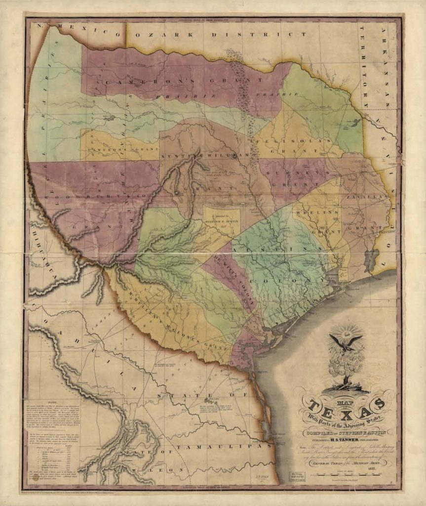 Map of Texas, 1837