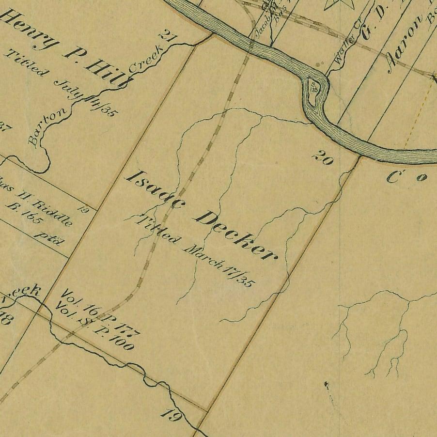 Isaac Decker Inset Map