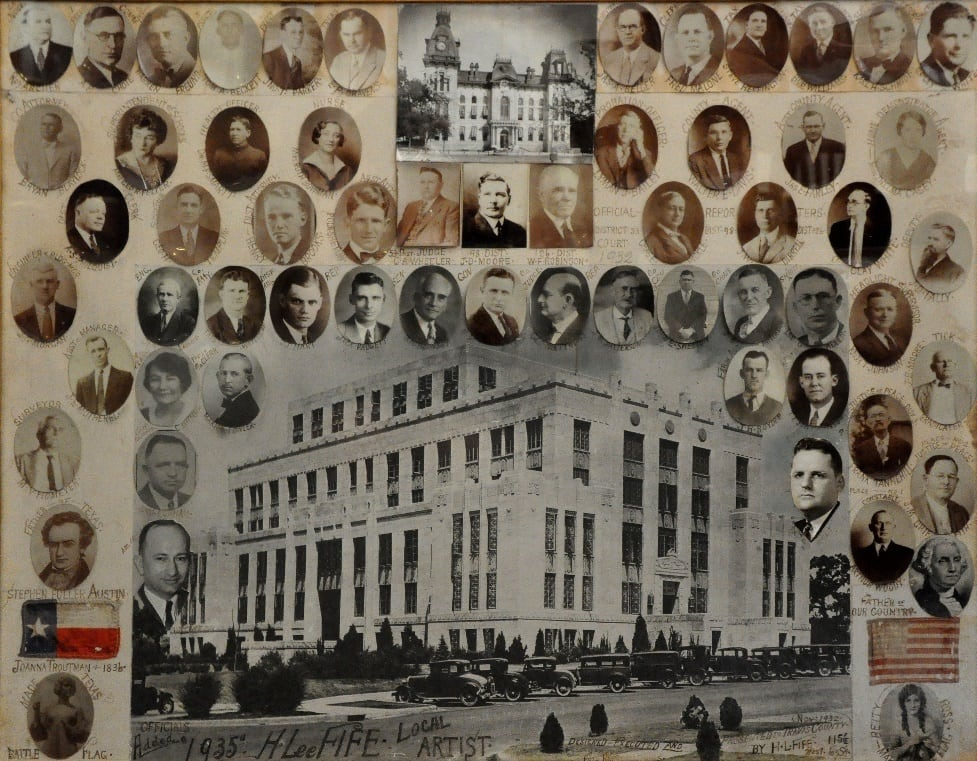Collage of Travis County Elected Officials, 1932