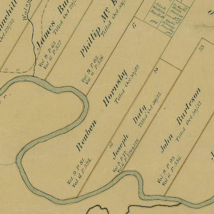 Hornsby Bend Inset Map