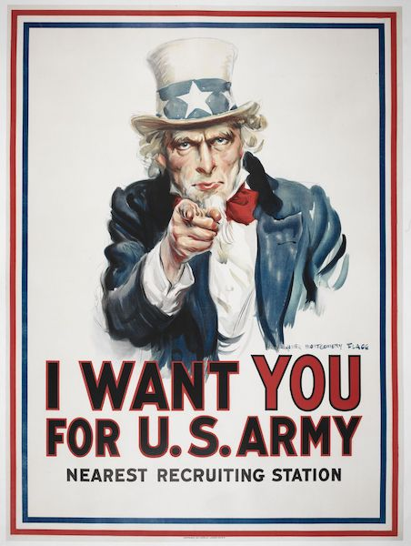 """""""I Want You,"""" James Montgomery Flagg, 1917 Library of Congress"""